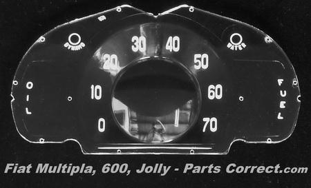 Fiat Multipla 600 Jolly Speedometer Gauge Lens USA..
